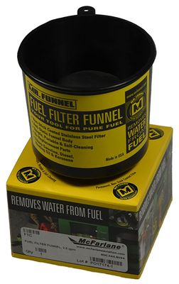 fuel filter funnel, 2 5 gpm